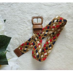 Trending 4th of July Red White and Blue Woven Belt